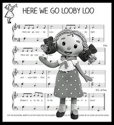 "Looby Loo was, a rag doll, who would 'come to life' when Andy Pandy & Teddy were not around. Looby Loo had her own special song ""Here we go Looby Loo""."