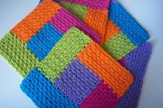 Free Pattern: Simply Square Log Cabin Dishcloth by Deborah Ellis
