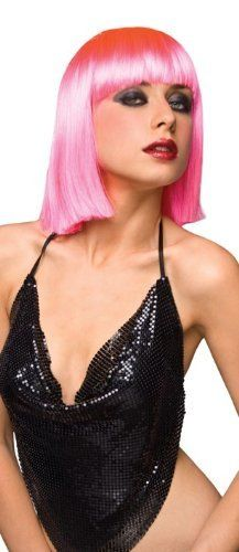 Pleasure Wigs Neon Style (CLEO) Hot Pink by Pleasure Wigs. $53.39. Realistic fibers are extremely human-like. Fully Adjustable. Washable with warm soapy water. These wigs are great for dress-up, fantasy, Halloween, just about anything! Made from human-like fibers they feel real and look real. One size fits all as they are fully adjustable for your comfort. Re-usable and re-wearable!