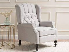 Find Christopher Knight Home 296110 Elizabeth Tufted Fabric Arm Chair Recliner, Beige online. Shop the latest collection of Christopher Knight Home 296110 Elizabeth Tufted Fabric Arm Chair Recliner, Beige from the popular stores - all in one Best Recliner Chair, Swivel Recliner Chairs, Modern Recliner, Stylish Recliners, Wingback Chairs, Modern Armchair, New Furniture, Living Room Furniture, Living Rooms