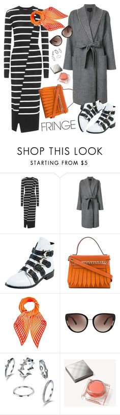 """Pop of color: orange"" by ana-amorim ❤ liked on Polyvore featuring McQ by Alexander McQueen, Alexander Wang, WithChic, Casadei, Hermès, Oscar de la Renta, Burberry and fringe"