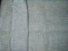 The Gatherings Antique Vintage - Early 1900 Blue Check Factory Homespun Fabric Yardage