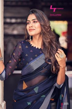 blouse designs Want to get that stylish look in Saree. Take a look at these stunning and trending blouse designs photos for ultimate style. Indian Blouse Designs, Kurta Designs, Cotton Saree Blouse Designs, Choli Blouse Design, Simple Blouse Designs, Stylish Blouse Design, Latest Saree Blouse Designs, Sari Design, Diy Design