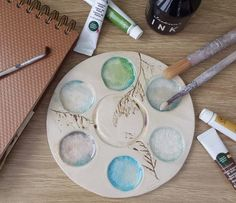 Handmade Ceramic Paint Palette £16.00