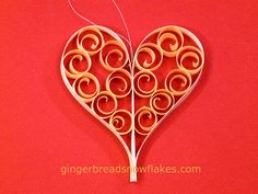 Festive Heart ornaments by gingerbread_snowflakes, via Flickr
