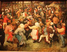 The Wedding Dance.  Pieter Bruegel the Elder. Some of the first fine art depicting peasantry life.
