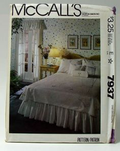 McCall-039-s-7937-Bedroom-Package-and-Blue-Transfer-Uncut