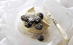 Brown-sugar meringues with lavender cream and blackberries recipe - Telegraph
