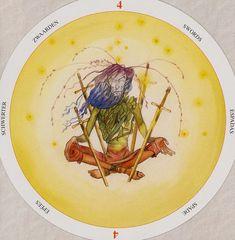 Four of Swords - Circle of Life Tarot by Maria Distefano