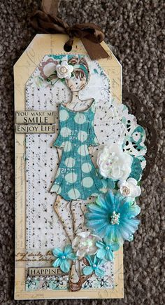 Prima Mixed Media Doll Stamps - Peasant Doll by Julie Nutting
