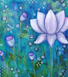 Lotus flower in teal Art Print by womenwineandwords Teal Art, Lotus Flower, Artists, Art Prints, Flowers, Painting, Art Impressions, Artist, Fine Art Prints