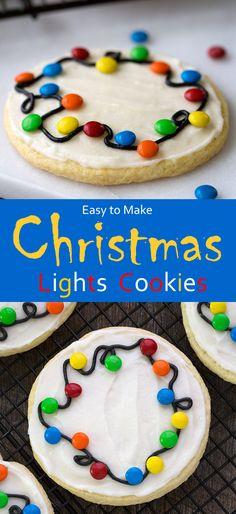Easy to Make Christmas Lights Cookies