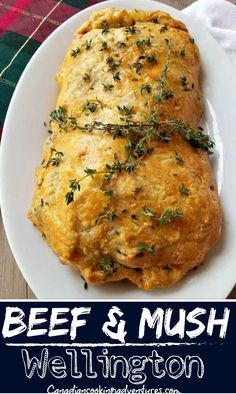 This Beef and Mushroom Wellington is a family favorite in our house. And is something that can be whipped up in less than an hour since we are using some pre made puff pastry. #beef #mushroom #wellington #christmas #eve #holiday #dinner #recipe #recipes #pastry #homemade #ground #minced Best Low Carb Recipes, Fun Easy Recipes, Quick Dinner Recipes, Favorite Recipes, Healthy Weeknight Meals, Easy Meals, Pasta Dinners, Crescent Roll, Seafood Dinner