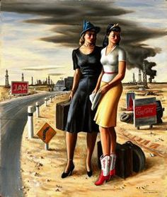 Oil Field Girls by Jerry Bywaters purchased by the Micheners through the Michener Acquisitions Fund for the Blanton Museum of Art at the University of Texas at Austin Oilfield Wife, Oilfield Baby, Oilfield Trash, Blanton Museum, Art For Art Sake, Oil And Gas, American Art, Yorkie, Art Museum
