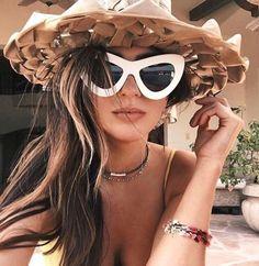 be3a45e250 Cat Eye Sunglasses Oversized Frame Women Fashion Vintage Large Retro Style  White Sport Fashion