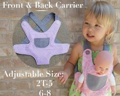 Baby Doll Carrier Tutorial Free Pdf Pattern No Sew Stuffed Animal Kid Toddler Big Sister Brother Gift Girl Baby Dress Patterns, Baby Clothes Patterns, Sewing Patterns, Baby Carrier Cover, Best Baby Carrier, Baby Doll Toys, Baby Doll Clothes, Diy Doll Carrier, Ergo Carrier