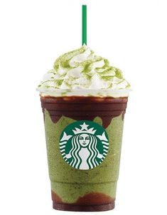 "Double chocolate green tea Frappuccino — Starbucks Australia...Tea and milk chocolate are the new ""matcha"" made in caffeinated heaven. This creative beverage blends the classic green tea Frappuccino with milk chocolate sauce, java chips, and green tea matcha powder."
