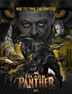 Fan-Made Movie Poster of the of the Marvel's film Black Panther in production. By Marcos Salas-Botia