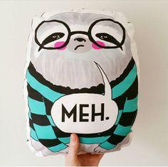 Sloth cushion // large MEH sloth cushion // sloth by whistleburg