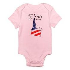100% IDAHO made Body Suit> 100% Idaho made> Victory Ink Tshirts and Gifts