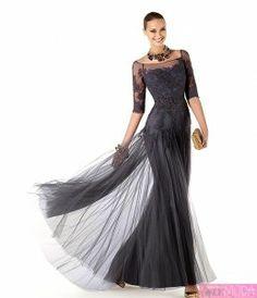 Siyah Dantelli Uzun Abiye Modelleri 2014