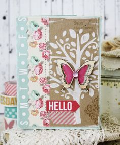 Hello...Handmade Card by lilybeanpaperie on Etsy, $8.00