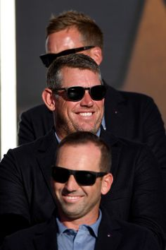 Lee Westwood of Europe looks on during closing ceremonies of the 2016 Ryder Cup at Hazeltine National Golf Club on October 2016 in Chaska, Minnesota. Chaska Minnesota, Ryder Cup, October 2, Golf Clubs, That Look, Mens Sunglasses, Europe, Fashion, Moda