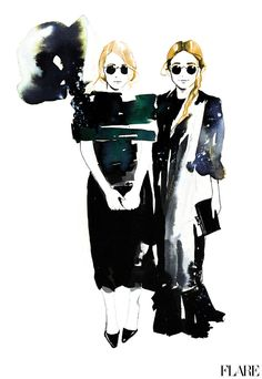Mary-Kate and Ashley Olsen by Amelie Hegardt