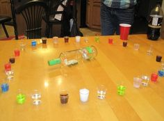 Bachelorette party Shot Roulette! A new twist to spin the bottle? lol