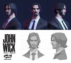 Dinsai added a new photo. 3d Model Character, Character Modeling, Character Concept, Character Art, Concept Art, Animation Character, 3d Animation, John Wick, Funny Sketches