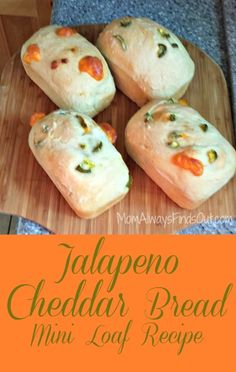 Bread Recipe: Jalapeno Cheddar Cheese - Mini Loaf #Recipe http://momalwaysfindsout.com/2013/12/jalapeno-cheddar-bread-recipe/