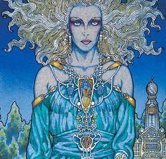 Celtic Irish Fantasy Art 'Ethne Mother Of Lugh' Signed Open Edition Print 16x11…