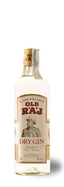 Buy Old Raj Gin 70 cl., a gin produced by William Cadenhead Ltd. in Scotland. Online Wine Shop, Dry Gin, Gin And Tonic, Package Design, Vodka Bottle, Liquor, Alcohol, Packaging Design, Design Packaging