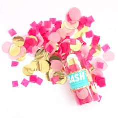 Pop the top on this fun confetti tube and make it an instant party! Each confetti mix is custom blended from premium tissue and mylar to compliment our party collections. Tube is 1.75 wide and 4 tall  Each tube is filled with .6 oz of confetti Made in Chicago by Bash Party Goods