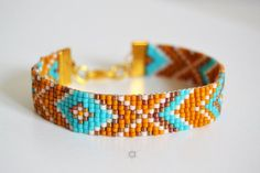 Items similar to Loom beaded bracelet, friendship bracelet, turquoise bracelet, miyuki bracelet, boho bracelet on Etsy Bead Loom Bracelets, Braided Bracelets, Pandora Bracelets, Friendship Bracelets, Diamond Bracelets, Collar Indio, Bracelet Turquoise, Pierre Turquoise, Layered Chains