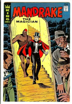 Mandrake the Magician - Vintage Comic Books, Vintage Comics, Comic Books Art, Comic Art, Book Art, Star Comics, Bd Comics, Pulp Fiction Comics, Newspaper Cartoons