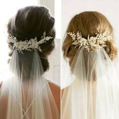 Wedding veil with hair up style inspo #weddinghairstyles
