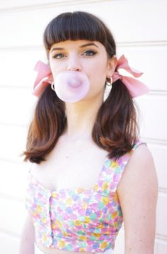 Bangs, pigtails and - of course - bubblegum!