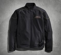 Cold, overcast, and windy. In other words, the perfect forecast. #RideLonger with our warm and comfortable Heated Soft Shell Jacket is an excellent riding partner in less than ideal forecasts. Layer this heated motorcycle jacket or wear it alone as a casual jacket. | Harley-Davidson Men's Performance Heated Soft Shell Jacket with Battery and Charger Kit
