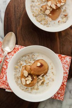 Cracked Freekeh Porridge with Maple Roasted Pears and Cardamom is pretty much the best way ever to greet cold winter mornings!