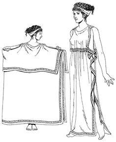 Женский древнегреческий костюм картинка