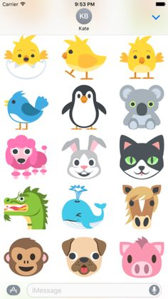 Image result for animal emoji Emoji Design, Snoopy, Horses, Fictional Characters, Animals, Image, Ideas, Art, Animales