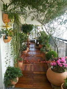 Inspired to leave a relaxing healthy life! Cover your patio or balcony floor with easy to assemble block planks and place your potted garden all around! Lovely