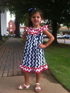 Football Dress - Toddler Dress - Ole Miss Dress- Chevron You Choose Your Team Mascot and Colors