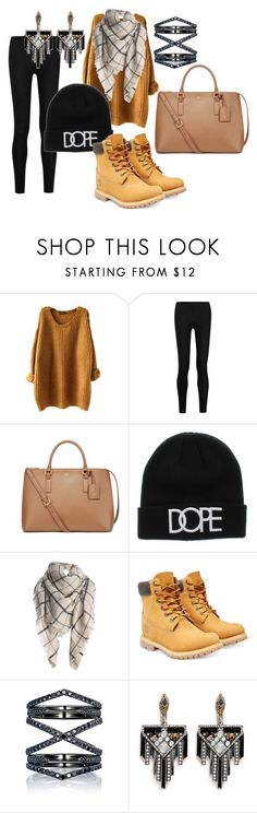 """""""Snowy winter"""" by danceyfancey ❤ liked on Polyvore featuring Donna Karan, Tory Burch, Timberland, Eva Fehren, Lulu Frost, women's clothing, women's fashion, women, female and woman"""