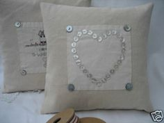 Modern Country Style: Tutorial: Vintage-Style Button Heart Piped Cushion part 1