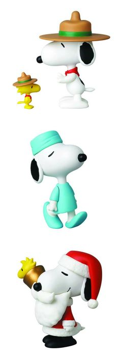 Snoopy is the dog of 1000 faces! Buy the new Medicom vinyl collectible dolls and help support CollectPeanuts.com.