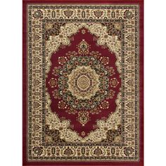 Sensation Red 10 ft. 6 in. x 14 ft. 6 in. Transitional Area Rug