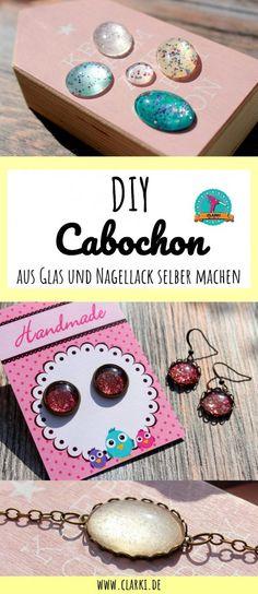 Cabochon DIY: Schmucksteine aus Glas und Nagellack selber machen. Die kostenlose Anleitung findest du unter www.clarki.de