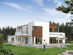 Dom jednorodzinny z piwnicą i dwustanowiskowym garażem przewidziany dla wieloosobowej rodziny.